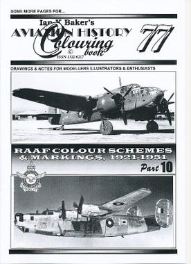 Ian K Baker Aviation Colouring Book 77