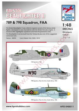 High Planes Bristol Beaufighter II Fleet Air Arm Decals