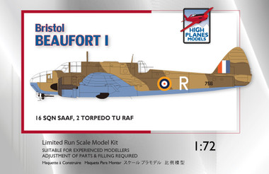 High Planes Bristol Beaufort Mk I SAAF RAF Kit 1:72