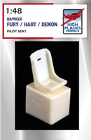 HIGH PLANES 1:48 PILOT SEAT HAWKER FURY / HART / DEMON