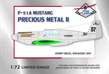 "High Planes P-51A Mustang ""Precious Metal II"" Racer Kit Kit 1:72"