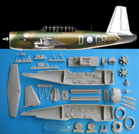 OzMods Scale Models Vultee Vengeance Fuselage Correction Set Accessories 1:48