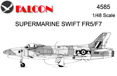 Falcon Supermarine Swift FR.5/F7 Kit 1:48 (FIK04585)