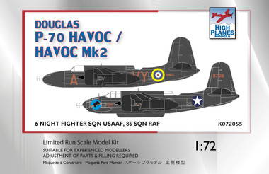 High Planes Douglas P-70 Boston USAAF, Havoc II RAF Kit 1:72