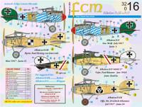 FCM WWI Albatros D.III/D.V Jasta 5, 24, Boelcke Decals 1:32