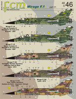FCM Mirage F1 - Ecuador, Libya, Iran, Iraq Decals 1:48