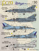 FCM Mirage III E/50 - Brazil, Chile, Argentina, Peru, Colombia Decals 1:48