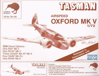 Tasman TM106 Airspeed Oxford Mk.V 1:72 Scale Model Kit