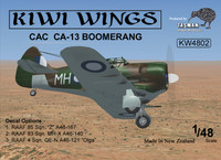 Kiwi Wings CAC CA-13 Boomerang Kit 1:48