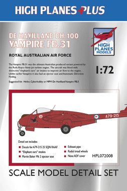 High Planes Plus DeHavilland DH.100 Vampire FB.31 Conversion 1:72