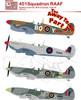 Red Roo Decals RAAF 451 Sqn Spitfire