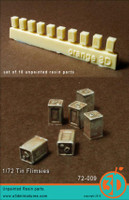 Orange 3D Commonwealth Tin Flimsies Accessories 1:72