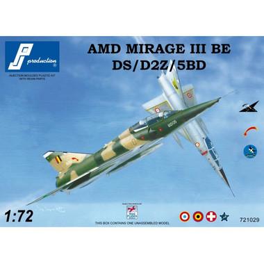 PJ Productions Dassault Mirage IIIBE DS D2Z 5BD Kit 1:72
