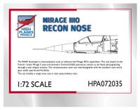 High Planes Mirage IIIO Recon Nose 1/72