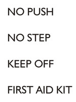 Red Roo Models No Step/First Aid Kit Modern Decals 1:72