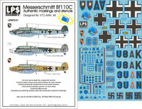 LPS Hobby Luftwaffe Messerschmitt Bf 110C Decals 1/72