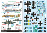 LPS Hobby Luftwaffe Messerschmitt Bf 110C Decals 1/48