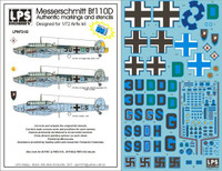 LPS Hobby Luftwaffe Messerschmitt Bf 110D Decals 1/72