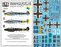 LPS Hobby Luftwaffe Messerschmitt Bf 110E Decals 1/72