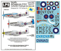 "LPS Hobby North American P-51 ""British Silver Mustangs"" 1/72"