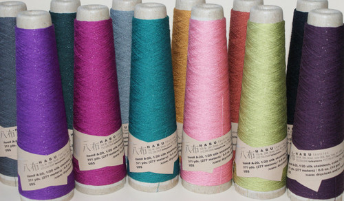 Scrumptious colour. Gorgeous silk and stainless steel yarn