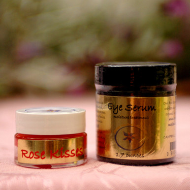 Rose Kisses shown with Soothing Eye Serum. Not included with purchase.