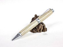 Handmade Real Silver / Copper Weave Braid Cigar Pen Ballpoint Chrome