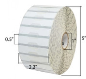 "Zebra Label Polypropylene 2.2 x 0.5in Direct Thermal Zebra 8000D Jewelry 1in core - 2.2"" Width x 0.5"" Length"