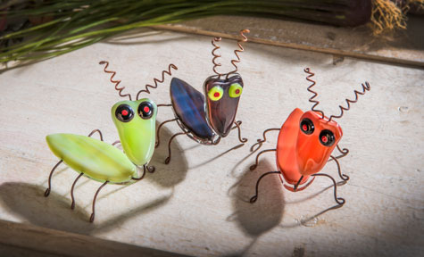 Fused Glass Bugs