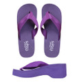 Grape Wedge - Purple Wedge Flip-Flops