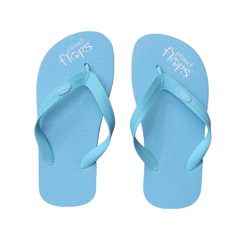 a62c35e42 Candyfloss - Neon Blue Kids Flip-Flops - Planet Flops