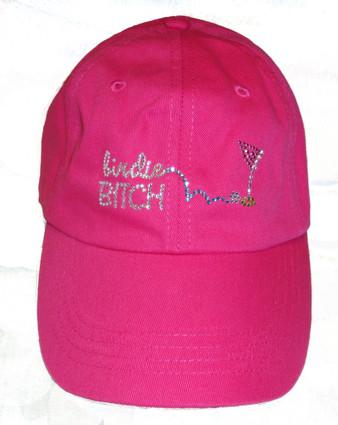 Birdie Bitch Bling It On Pink Hat