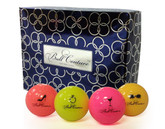 Ball Couture Womens Multicolor Neon Golf Balls