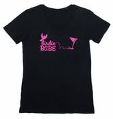 Birdie Babe V-neck Tshirt Black