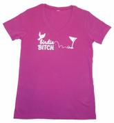 Birdie Bitch V-neck Tshirt Pink