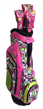 Bahama Mama - Pink Ladies Hybrid Golf Bag with Headcovers