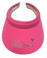 Bling Hot Pink Visor Clip-on