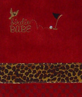 red leopard golf towel