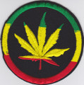 Embroidered Patch : Weed Leaf