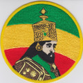 Embroidered Patch : Emperor Haile Selassie (Large)