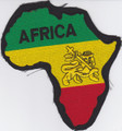 Embroidered Patch...Africa Map (Large)