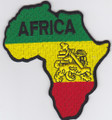 Embroidered Patch...Africa Map (Small)