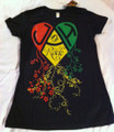 Jah Rock : Black (Heart) - Women's T Shirt