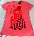 Jah Rock : Pink & Red - Women's T Shirt