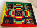 Ludo Board & Draughts Board - Black, Red, Green & Gold : King Lion Heart (Custom)