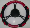 Trinidad & Tobago Mesh Steering Wheel Cover : Black, Red & White
