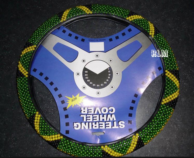 Jamaica Beaded Steering Wheel Cover   Black 0b46a3774a6d
