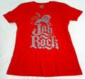 Jah Rock : Lion Of Judah Grey - Red Women's T Shirt