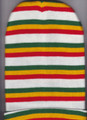 Red, Green, Gold & White...Rasta Beanie