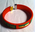 Red Green And Gold : Lion Of Judah Flag Bracelet/Bangle/Wristband ( Small Red)
